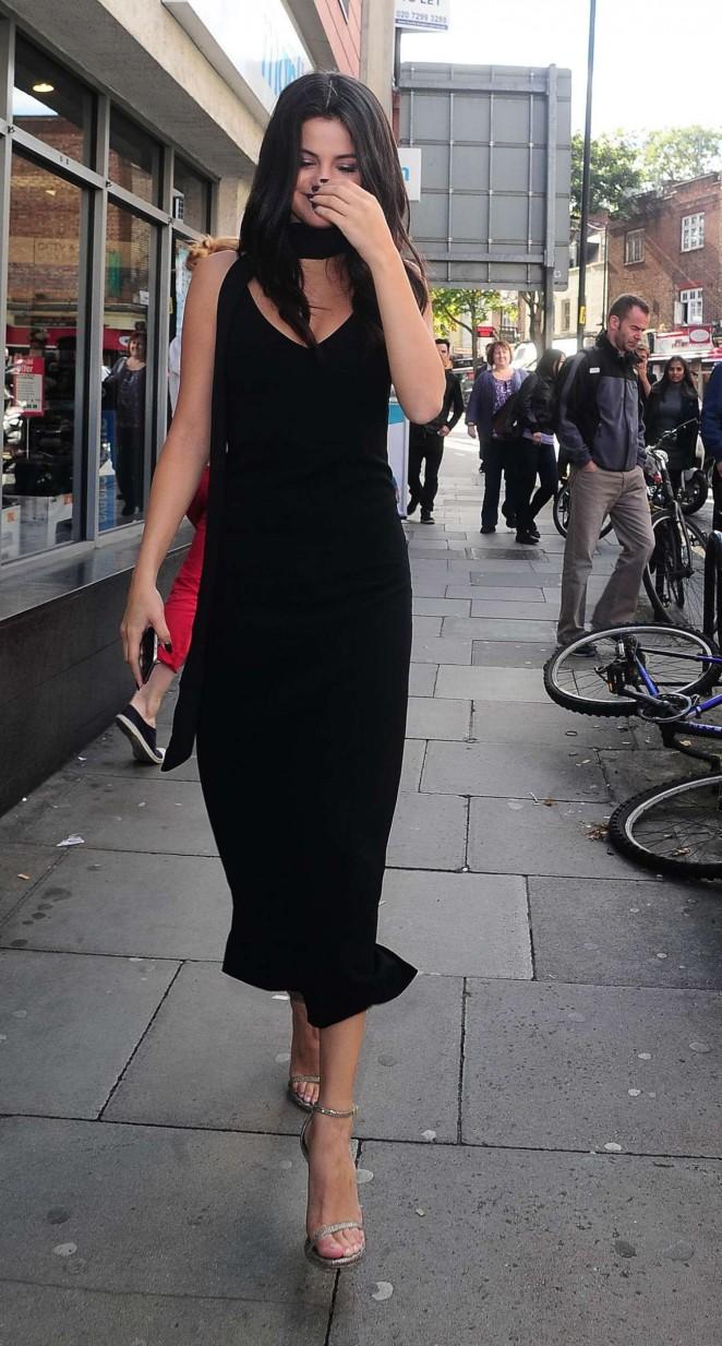 Selena Gomez in Black Dress -12