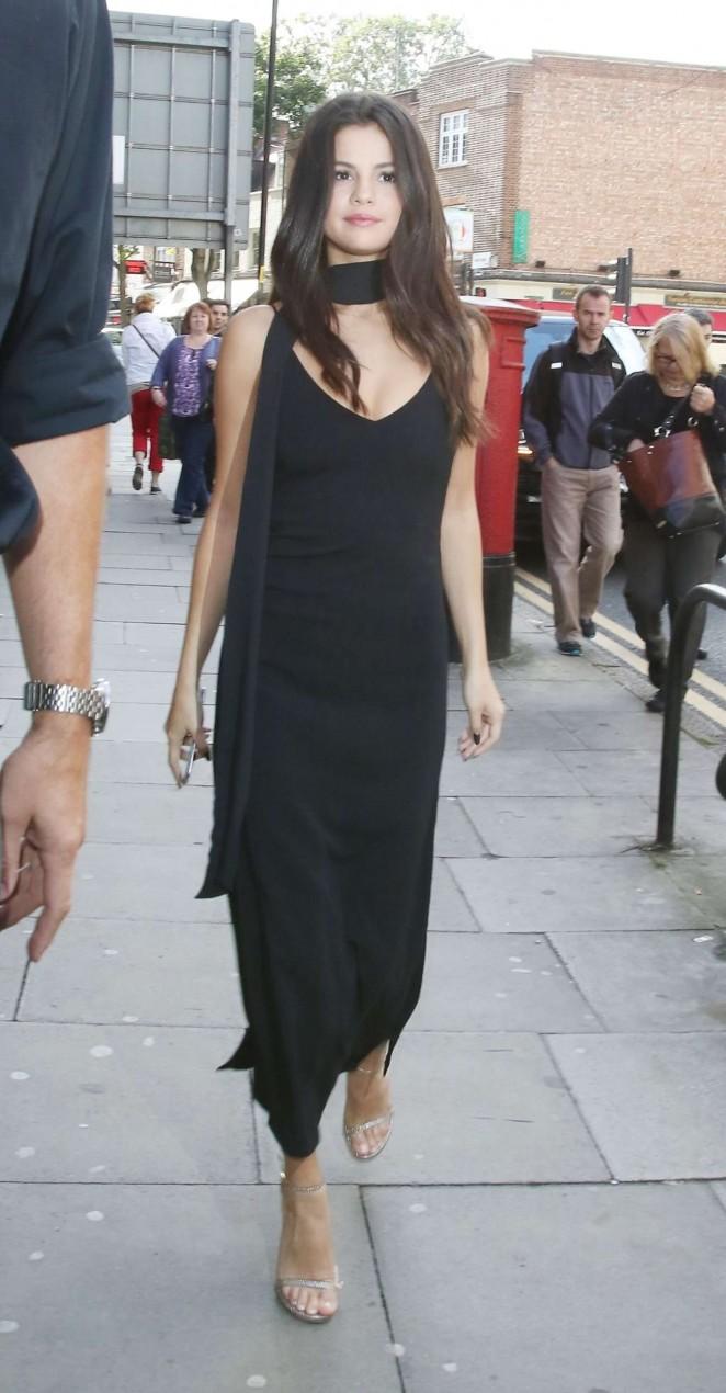 Selena Gomez in Black Dress -16