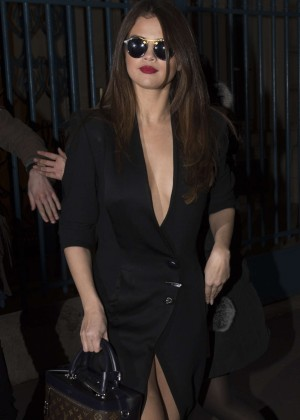 Selena Gomez in Black Dress -02