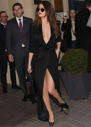 Selena Gomez in Black Dress -11