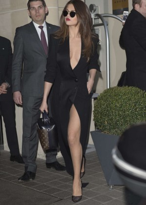 Selena Gomez in Black Dress -21
