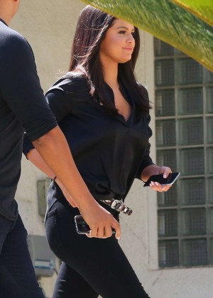 Selena Gomez in Black Out in LA