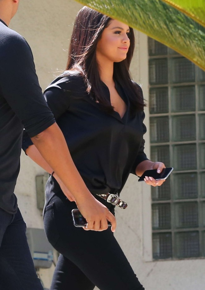 Selena Gomez in Black Out and about in LA