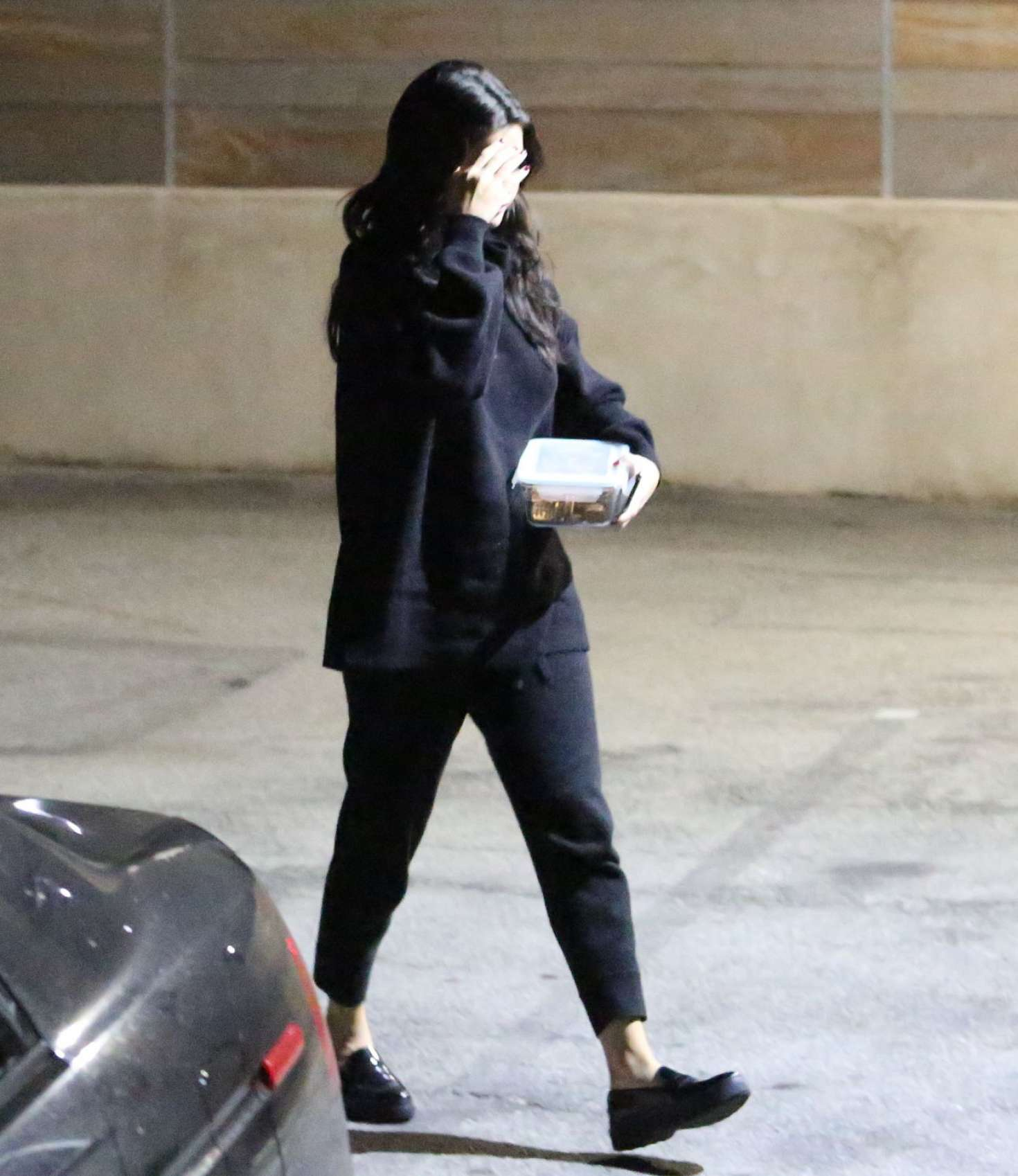 Selena Gomez in Black Outfit - Night out in Hollywood