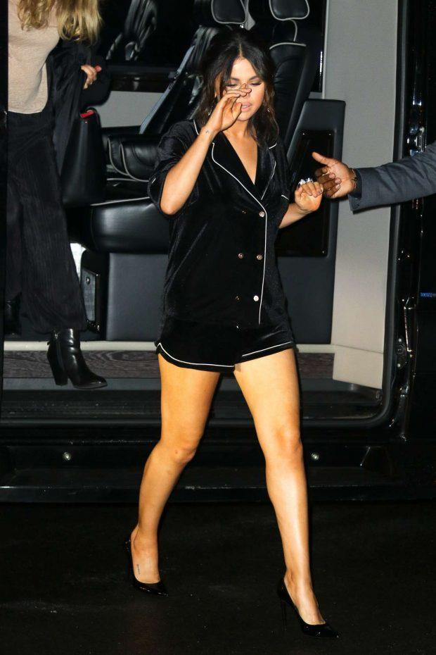 Selena Gomez in Black Shorts-01
