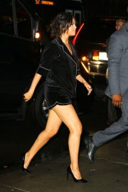 Selena Gomez in Black Shorts - Out in New York