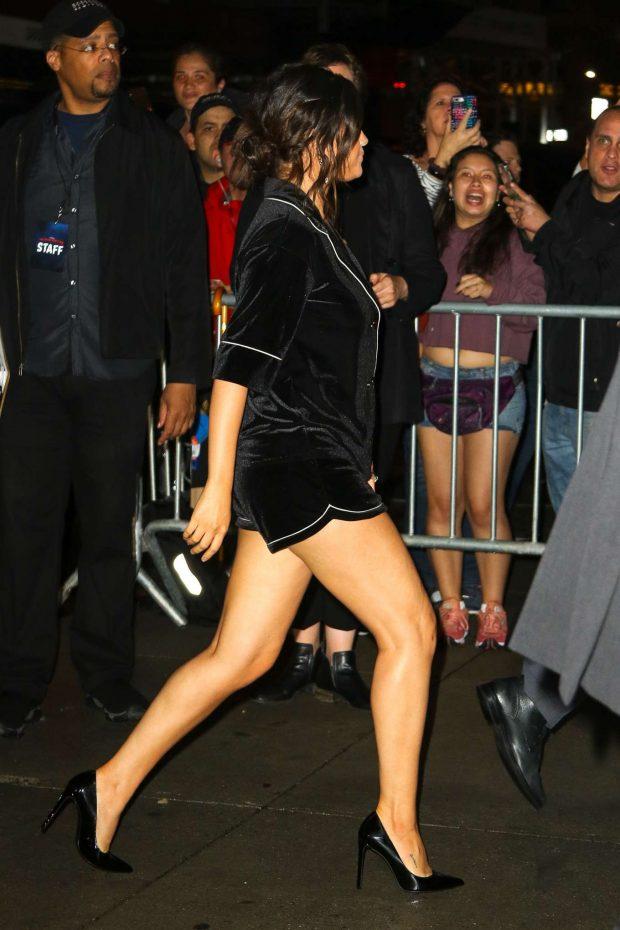 Selena Gomez in Black Shorts-05