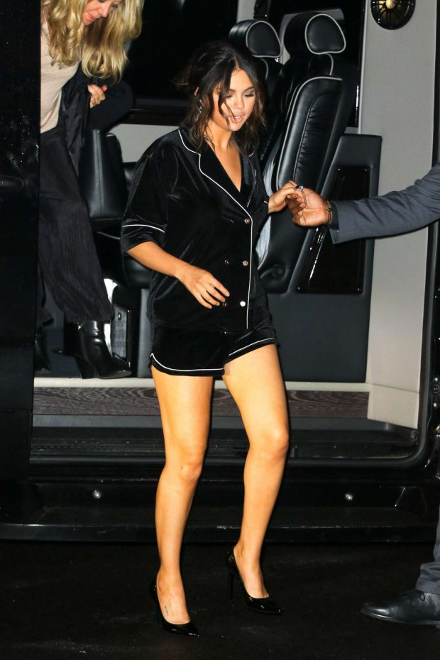 Selena Gomez in Black Shorts-07