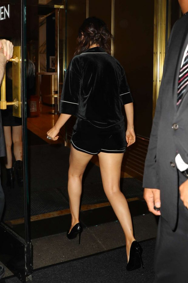 Selena Gomez in Black Shorts-08