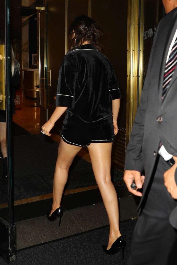 Selena Gomez in Black Shorts-11