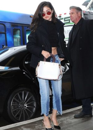 Selena Gomez in Jeans at LAX airport in Los Angeles