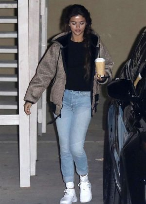 Selena Gomez in Jeans - Leaves Church in Beverly Hills