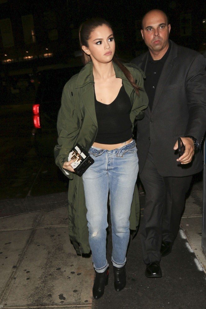 Selena Gomez in Jeans Out in NYC