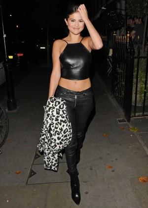 Selena Gomez in Leather -03