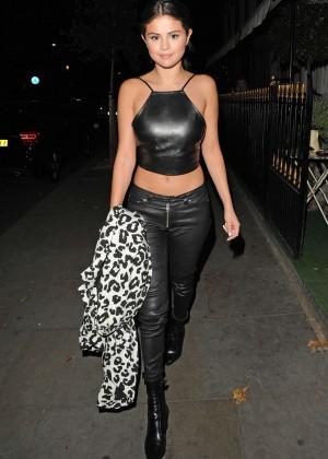 Selena Gomez in Leather -09