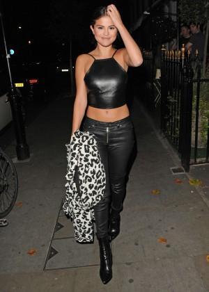 Selena Gomez in Leather -10