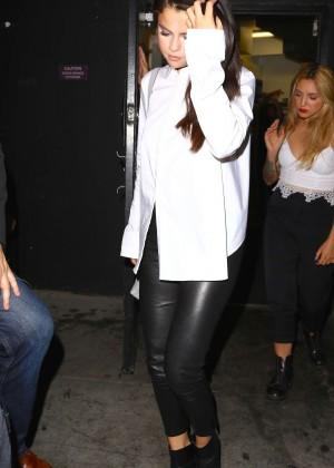 Selena Gomez Booty in Leather -04