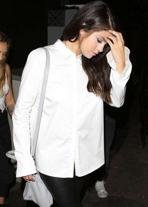 Selena Gomez Booty in Leather -05
