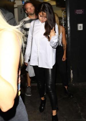 Selena Gomez Booty in Leather -17