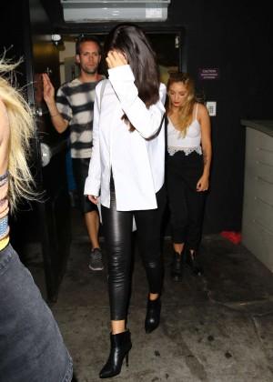 Selena Gomez Booty in Leather -21