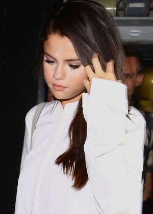 Selena Gomez Booty in Leather -22