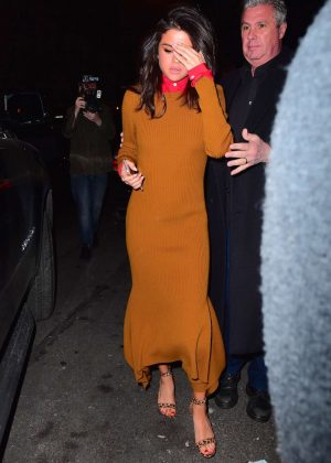 Selena Gomez in Long Dress out in New York City