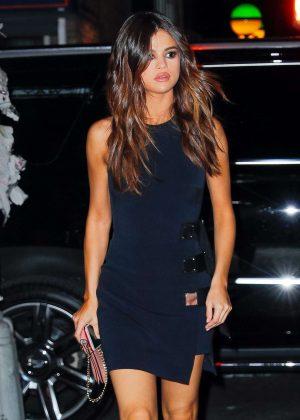 Selena Gomez in Mini Dress out in New York City