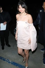 Selena Gomez in Pink Dress - Heads to the 2020 Hollywood Beauty Awards in West Hollywood