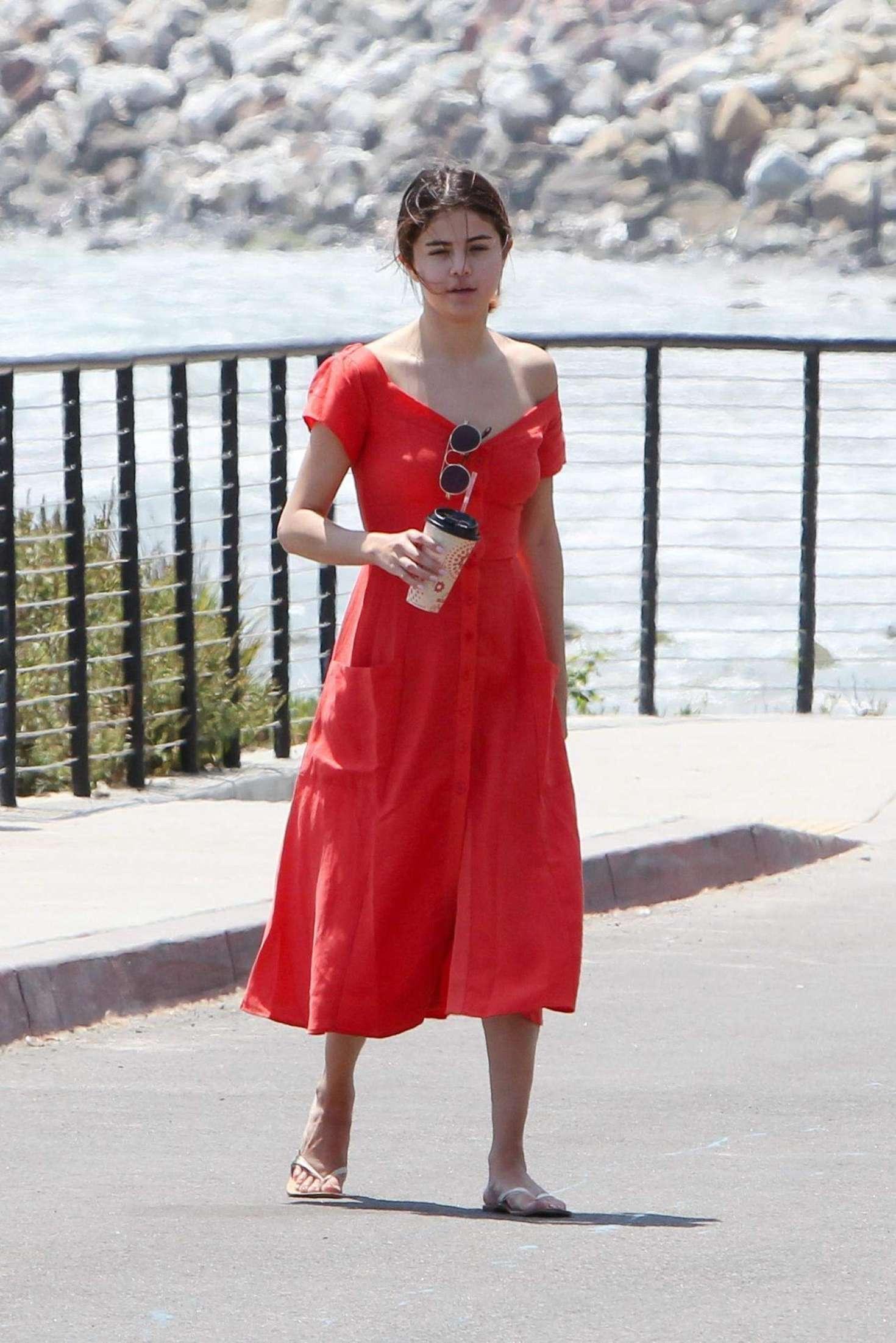 Selena Gomez 2017 : Selena Gomez in Red Long Dress -13