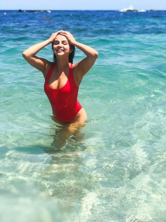 Selena Gomez in Red Swimsuits - Krahs Swimwear 2019 Collection adds