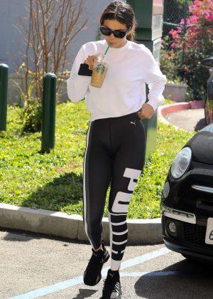 Selena Gomez In Spandex At A Pilates Studio In Los Angeles