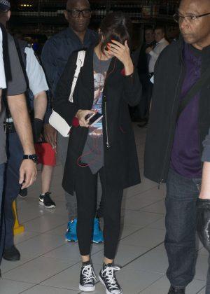 Selena Gomez in Spandex Leaves Sydney