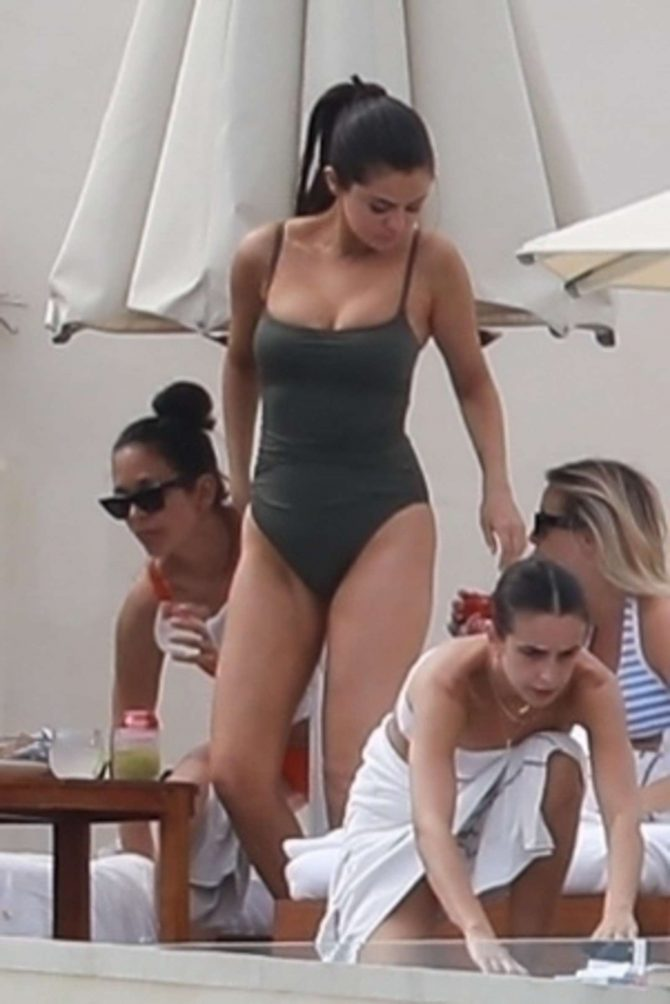 Selena Gomez in Swimsuit on the beach in Cabo San Lucas