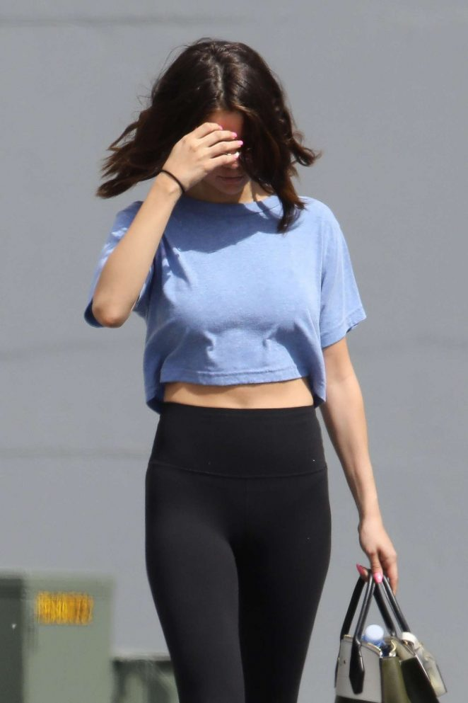 Selena Gomez in Tights Leaves Pilates in Los Angeles