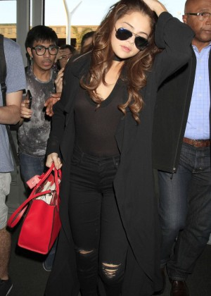 Selena Gomez - LAX Airport in Los Angeles