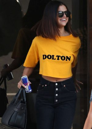 Selena Gomez - Leaves a Shamrock Tattoo in Hollywood
