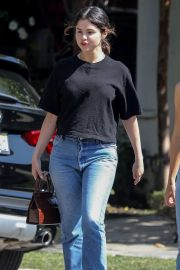 Selena Gomez - Leaves Cha Cha Matcha with friends in West Hollywood