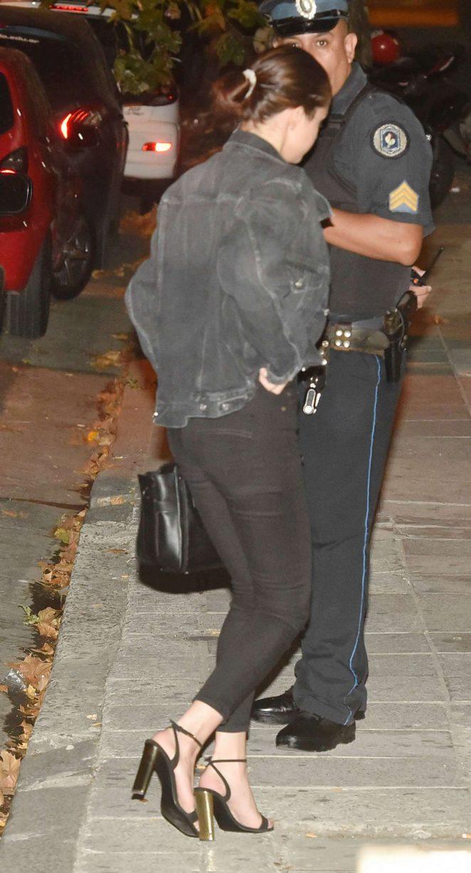 Selena Gomez - Leaving Boris Jazz Club in Palermo