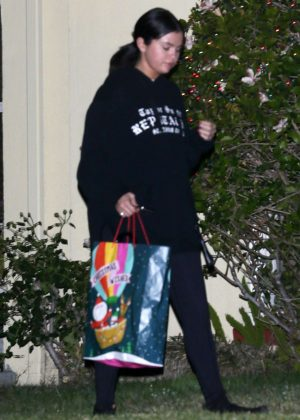 Selena Gomez - Leaving her friend's house in Los Angeles