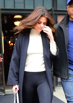 Selena Gomez - Leaving her hotel in New York City
