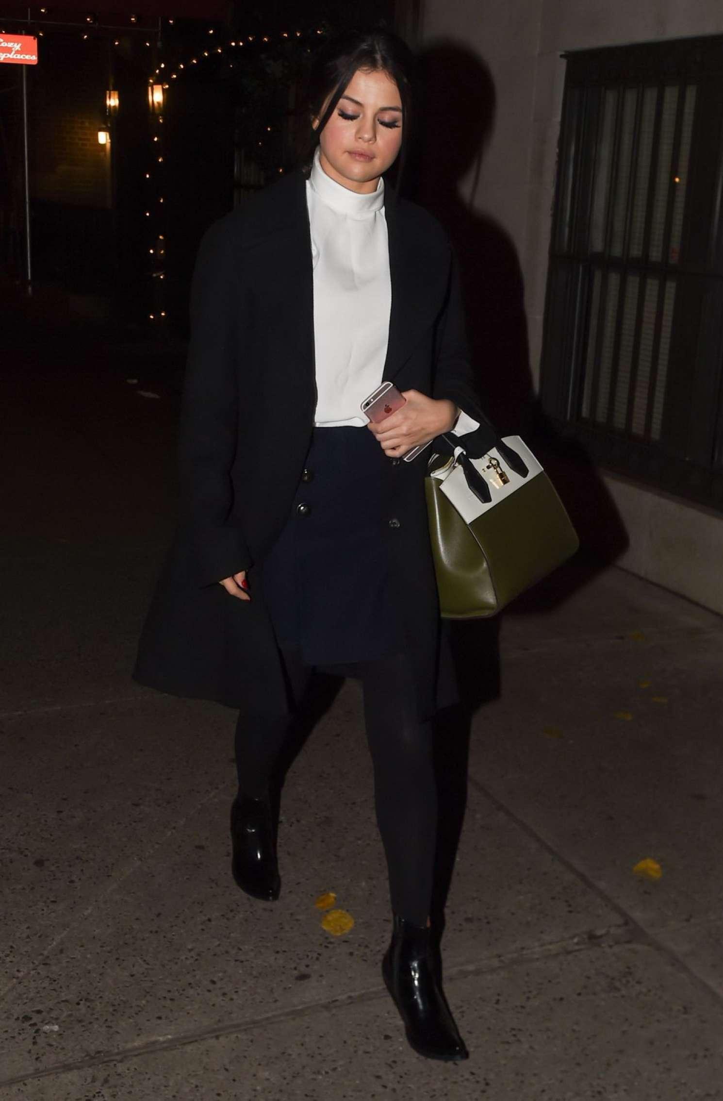 Selena Gomez - Leaving 'Joanne Trattoria' Restaurant in NYC