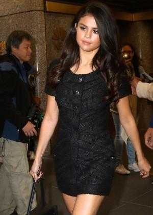 Selena Gomez - Leaving NBC Studios in New York