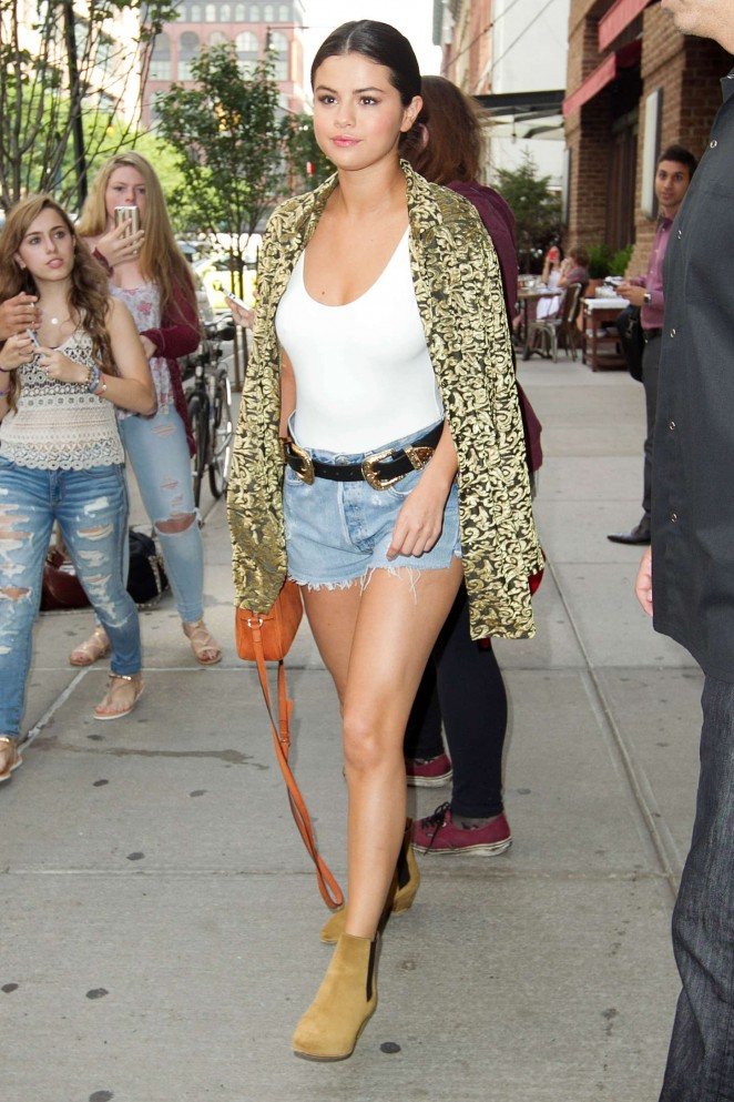 Selena Gomez in Denim Shorts -20 - GotCeleb