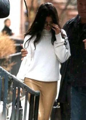 Selena Gomez - Leaving The Victoria's Secret Show Rehearsals in NYC