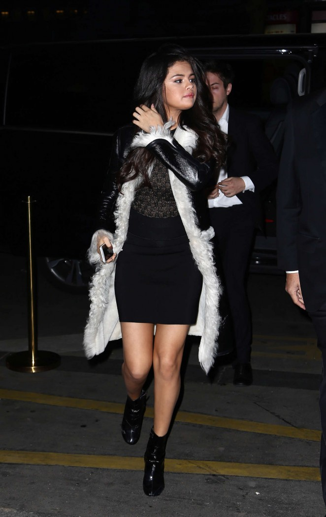 Selena Gomez in Mini Dress Out in Paris
