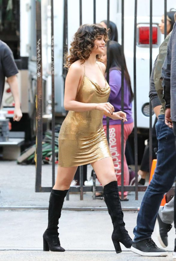 Selena Gomez - On a video set of Rare in Los Angeles