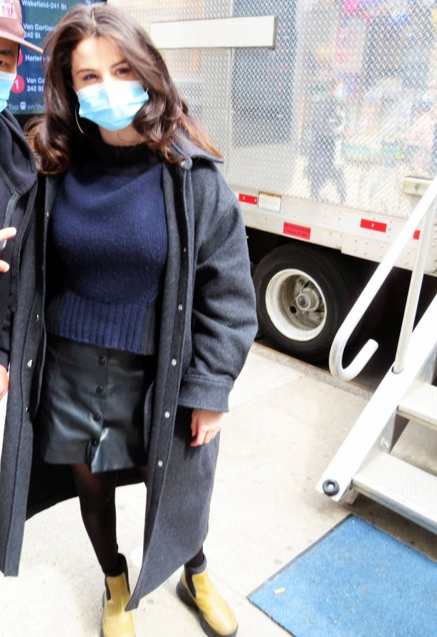 Selena Gomez - On film set at West End area in New York City