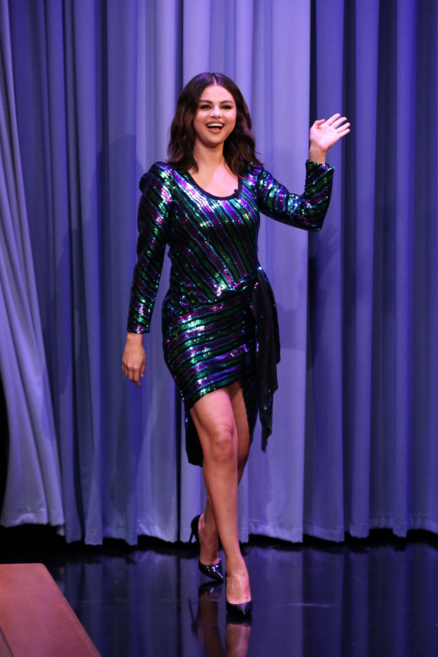 Selena Gomez - on The Tonight Show Starring Jimmy Fallon in NYC
