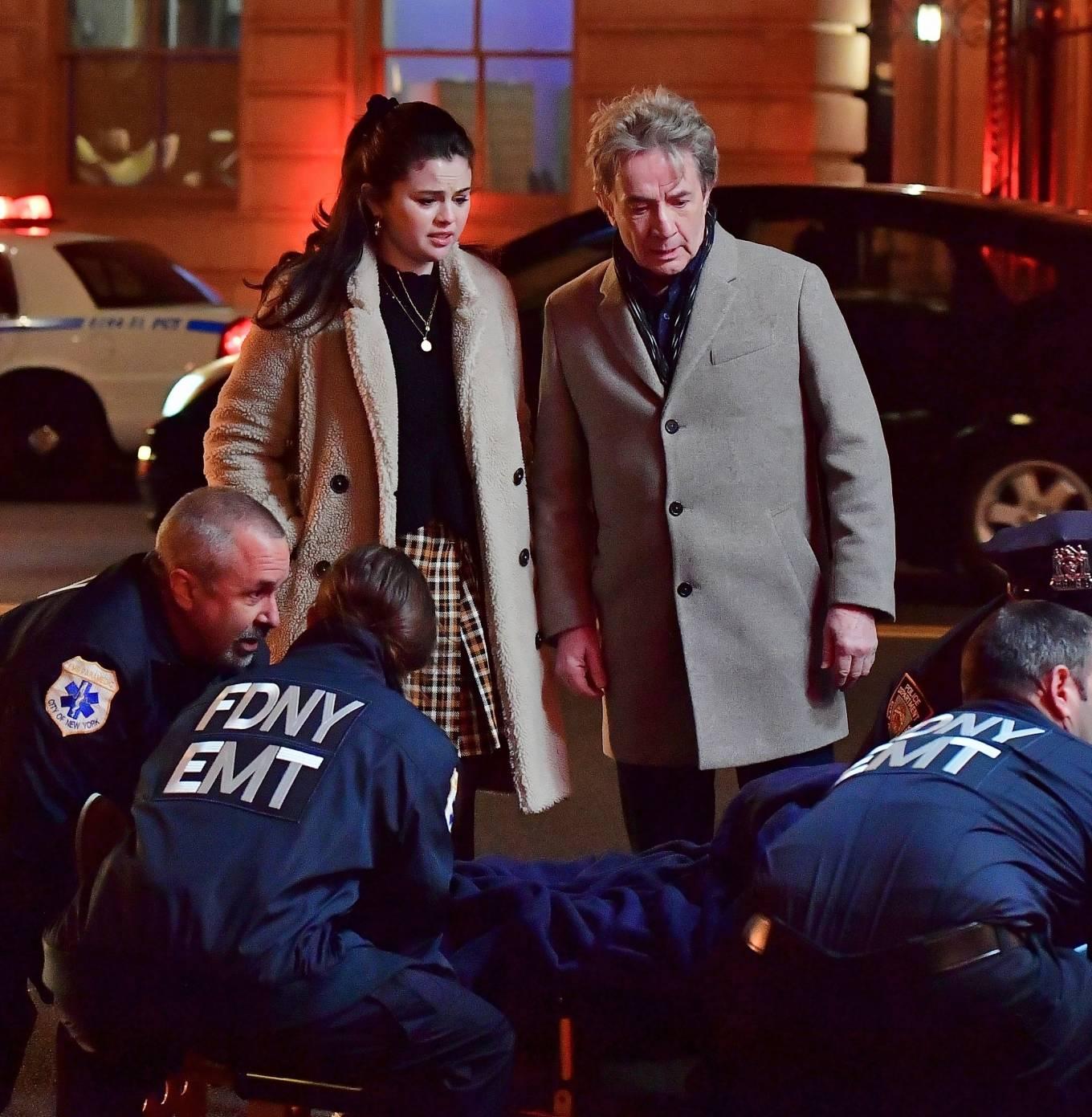 Selena Gomez 2021 : Selena Gomez – Only Murders In The Building set candids in New York-08