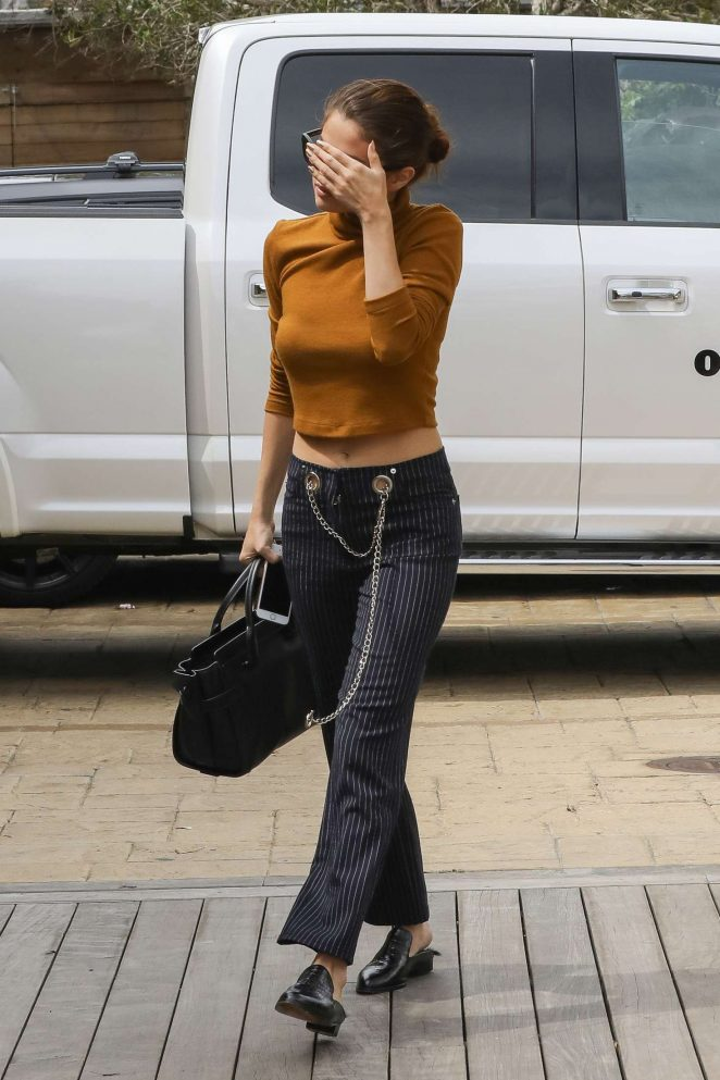 Selena Gomez out for a lunch -11